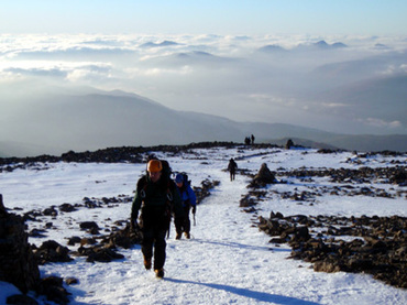 Ben Nevis winter ascent